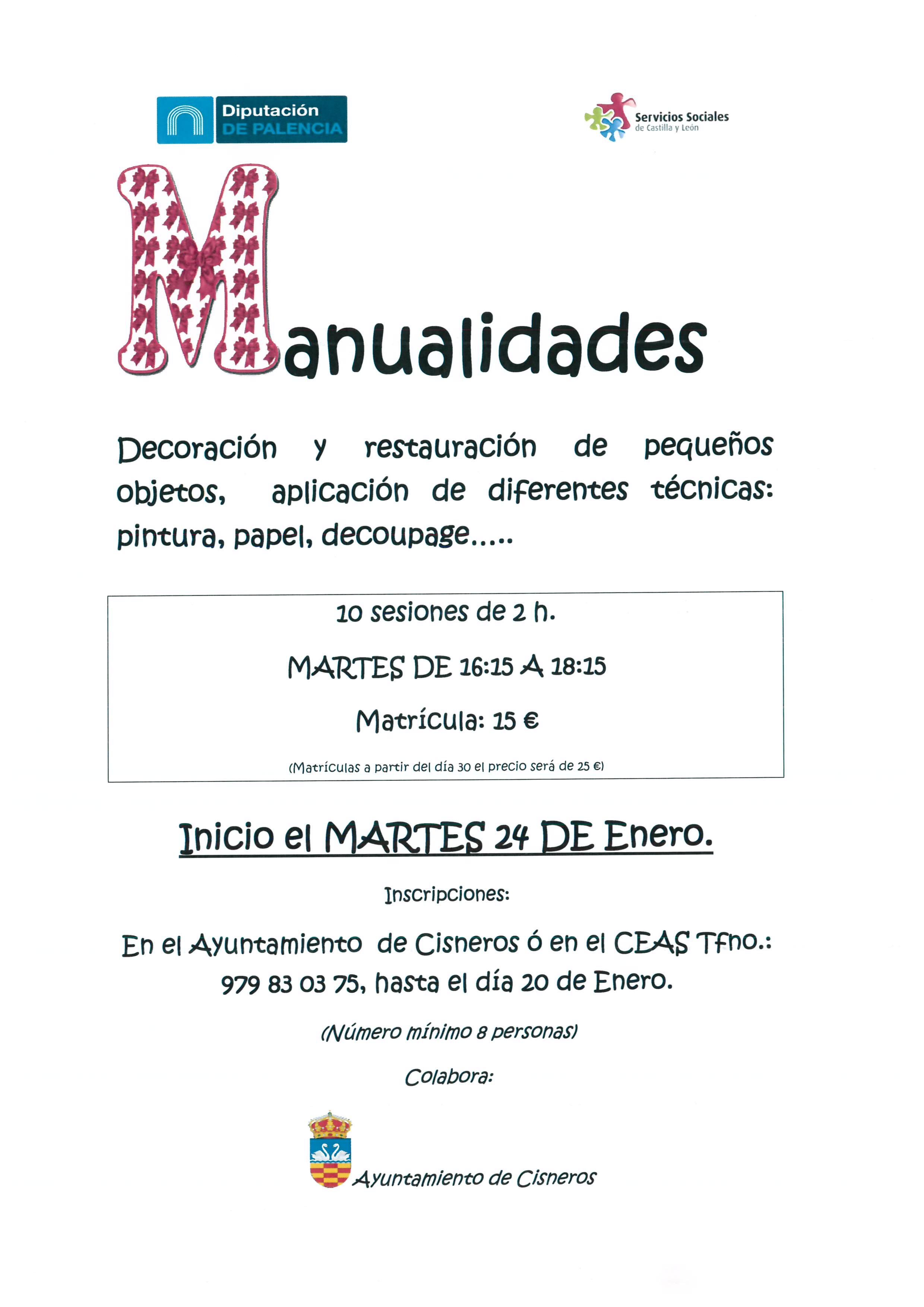 CURSO DE MANUALIDADES