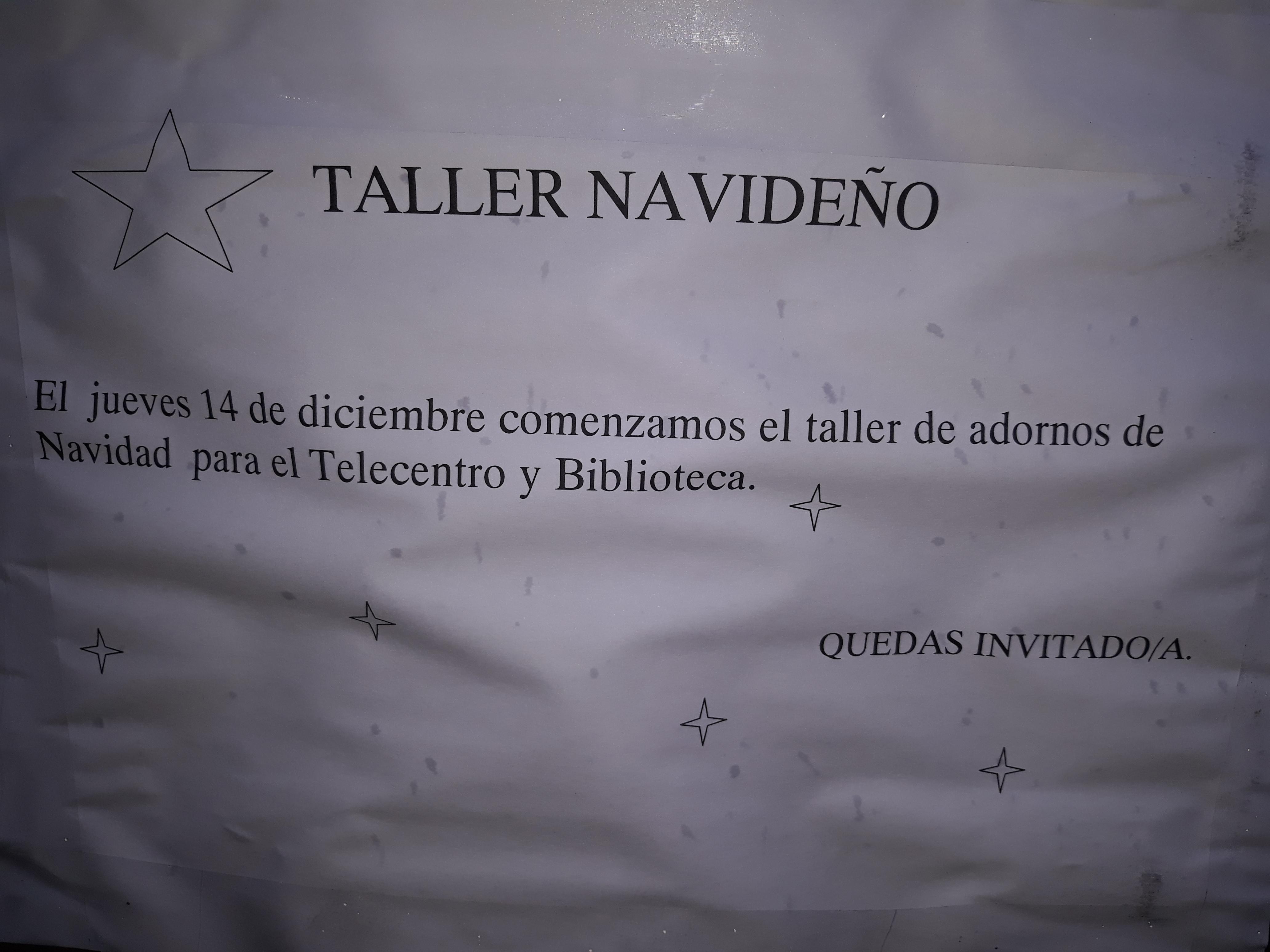 TALLER DE ADORNOS NAVIDEÑOS